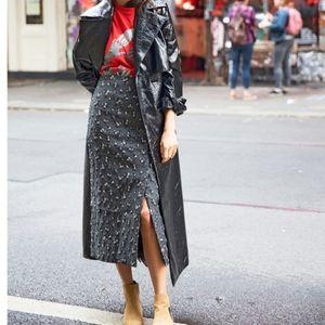 Vintage studio rayon maxi skirt